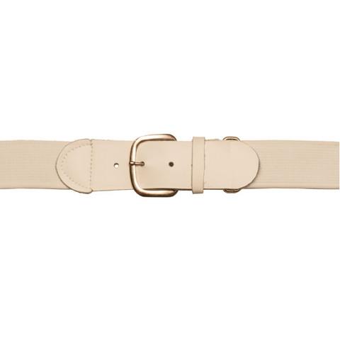 "White Adjustable Adult Baseball Uniform Belt - Size 22""- 46"""
