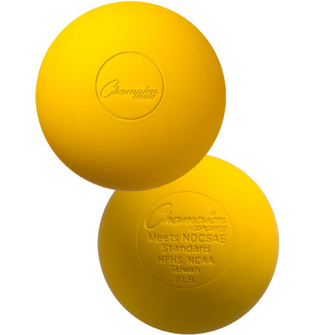Yellow Official Lacrosse Ball - NCAA Approved