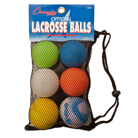 Lacrosse Ball 6 Color Set - NCAA/NFHS Approved