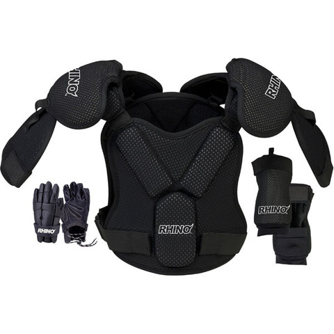 Rhino Lacrosse Padding Set with Shoulder Pads and Gloves - Size Large
