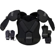 Rhino Lacrosse Padding Set with Shoulder Pads and Gloves - Size Medium