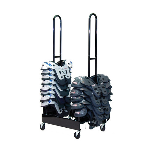 Two Stack 30 Shoulder Pad Storage Rack