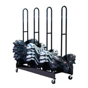 Four Stack 80 Shoulder Pad Storage Rack