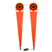 Flex Down Football Pro/Collegiate Chain Set with Bulls Eye and Plain Orange Pads