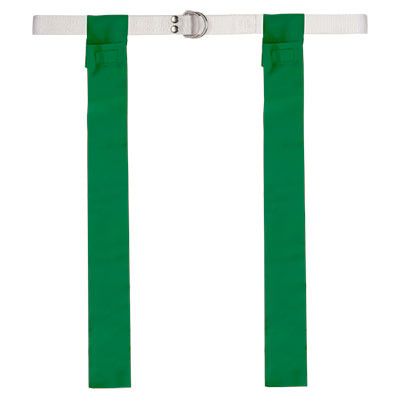 Green Velcro Flag Football Belt Set of 12