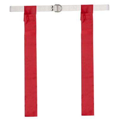 Red Velcro Flag Football Belt Set of 12