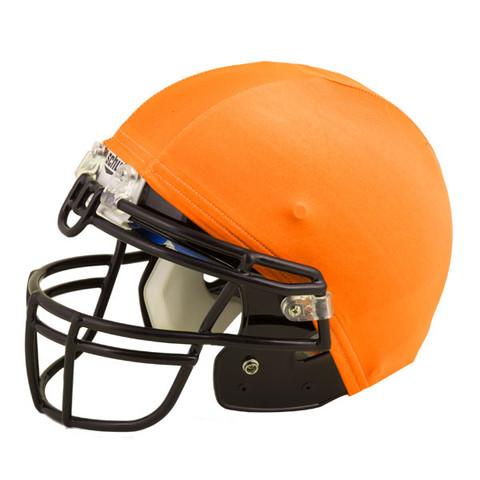 Orange Nylon Stretch Football Helmet Cover