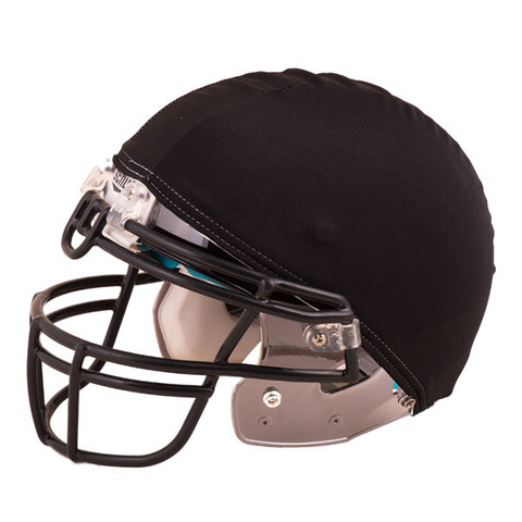 Black Nylon Stretch Football Helmet Cover