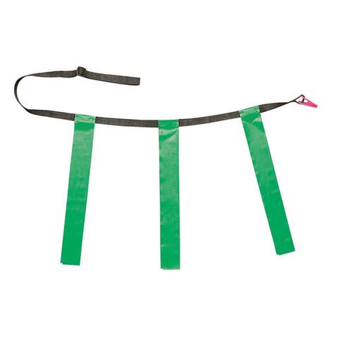 Green Adult Triple Flag Football Belt Set of 12