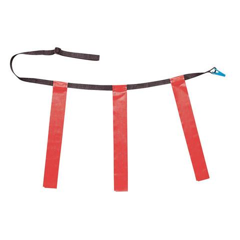 Red Adult Triple Flag Football Belt Set of 12