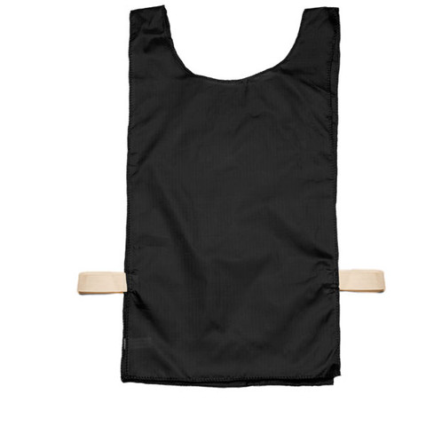 Black Heavyweight Nylon Youth Pinnie Vest Set of 12