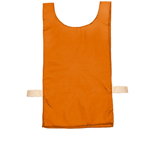 Orange Heavyweight Nylon Youth Pinnie Vest Set of 12