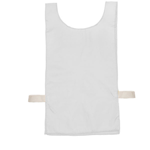 White Heavyweight Nylon Youth Pinnie Vest Set of 12