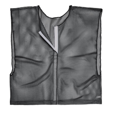 Black Adult Size Velcro Front Deluxe Mesh Scrimmage Vest - Ideal for Football & Hockey