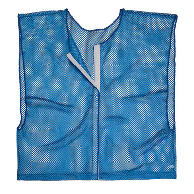 Royal Blue Adult Size Velcro Front Deluxe Mesh Scrimmage Vest - Ideal for Football & Hockey
