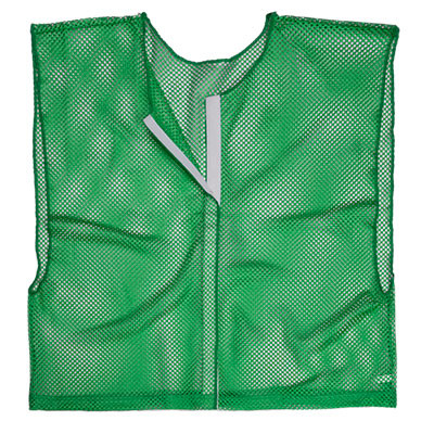 Green Adult Size Velcro Front Deluxe Mesh Scrimmage Vest - Ideal for Football & Hockey