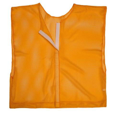 Orange Adult Size Velcro Front Deluxe Mesh Scrimmage Vest - Ideal for Football & Hockey