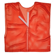 Red Adult Size Velcro Front Deluxe Mesh Scrimmage Vest - Ideal for Football & Hockey