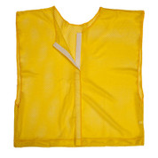 Yellow Adult Size Velcro Front Deluxe Mesh Scrimmage Vest - Ideal for Football & Hockey