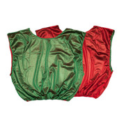 Reversible Nylon Micro Mesh Scrimmage Pinnie Vest Green/Red