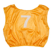Practice Adult Numbered Adult Scrimmage Vest - Gold