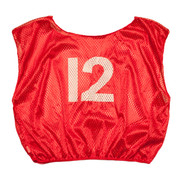 Practice Adult Numbered Adult Scrimmage Vest - Red