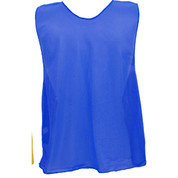 Adult Nylon Micro Mesh Practice Vest - Royal Blue