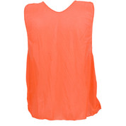 Adult Nylon Micro Mesh Practice Vest - Orange