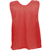 Adult Nylon Micro Mesh Practice Vest - Red
