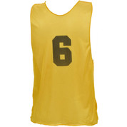 Youth Numbered Nylon Micro Mesh Practice Vest - Yellow
