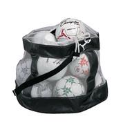 Deluxe Mesh Soccer Ball Bag with Drawstring and Shoulder Strap