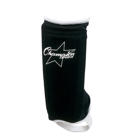 Hard Plastic Sock Type Adult Size Shinguard - Black/White
