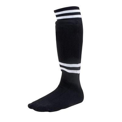 EVA Foam Sock Style Medium Black Soccer Shinguard with Ankle Protector