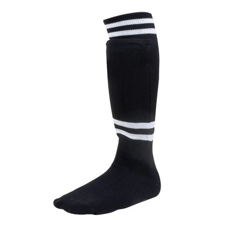 EVA Foam Sock Style Large Black Soccer Shinguard with Ankle Protector