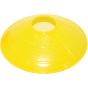 "Yellow Champion Sports 9"" Saucer Low Profile Field Cone"