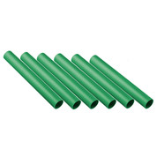 Green Plastic Track Relay Batons Set of 6