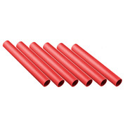 Red Plastic Track Relay Batons Set of 6