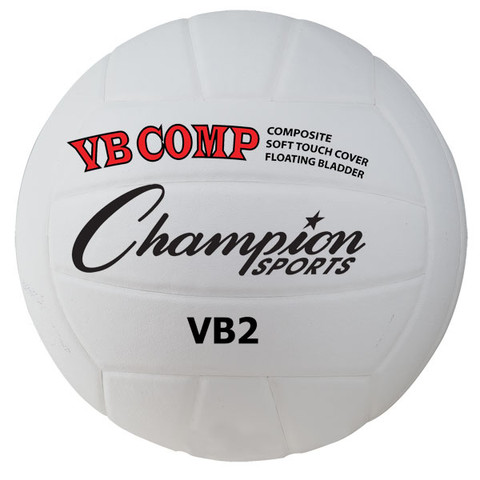FIVB Approved VB Pro Comp Series Volleyball, White/Black