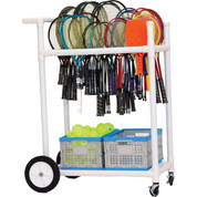 All-Terrain Portable ABS Plastic Tennis Racket Storage Cart