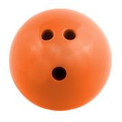 Plastic Rubberized Training Bowling Ball, Orange, 3lb