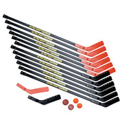High School PE Hockey Game Set Ultra Shaft 47-In Sticks for 12 Players