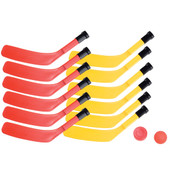 PE Games Scooter Board Hockey Set