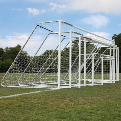 """Alumagoal Natural Aluminum 3"""" Round Soccer Club Goals 8x24"""