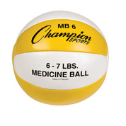 Heavy Duty Durable Leather Cross Training Medicine Ball 6-7lb