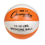 Heavy Duty Durable Leather Cross Training Medicine Ball 11-12lb