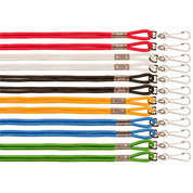 Heavy Duty Nylon Lanyard Set Assorted Colors Dozen