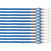 Blue Heavy Duty Nylon Sports Coaches Lanyard