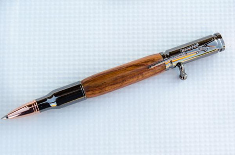 Honduras Rosewood Bolt Action Bullet Pen
