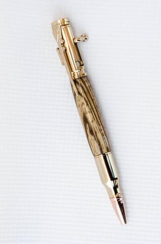 Tiger Wood Bolt Action Bullet Pen