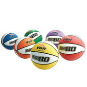 Junior Size Voit Lite 80 Rubber Basketball Multi Color Prism Pack for Indoor or Outdoor Play